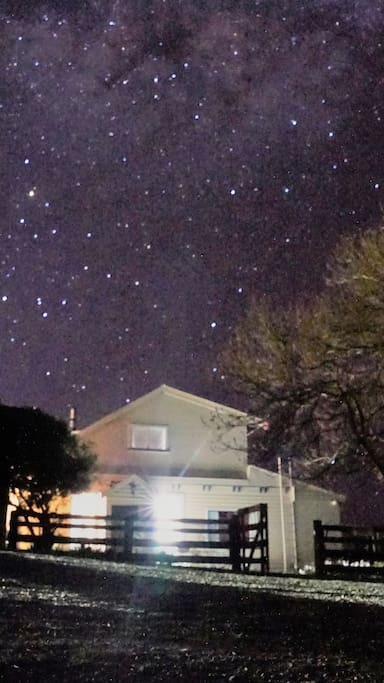 This is taken with a cell phone of the stars at night.