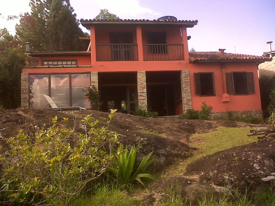 Vista dos fundos da casa