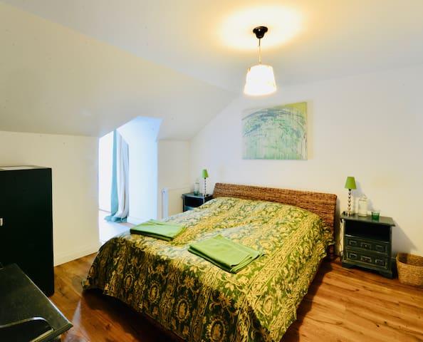 room 2 - green room with ensuite bathroom - second floor