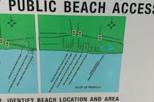 Several public beach access points in our neighborhood