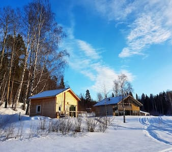 Timber cabin with sauna and loft. - Boden N