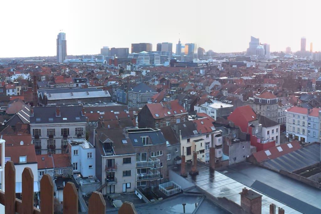 vue de bxl de la terrasse