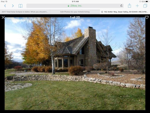 French Style Log Home