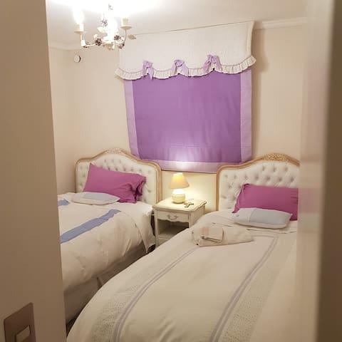 Cozy Guest Bedroom with down comforters