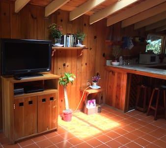 Cabaña rústico rodeado de espacios verdes