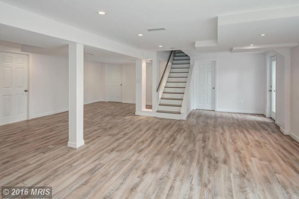 This is the walk-in basement. You will have your own large bedroom and private entrance in the basement.