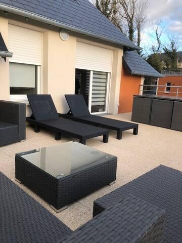 Deauville appartement terrasse vue mer