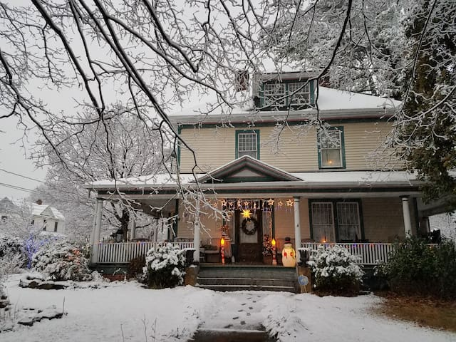 My house looks like a Winter Wonderland with the recent snow!
