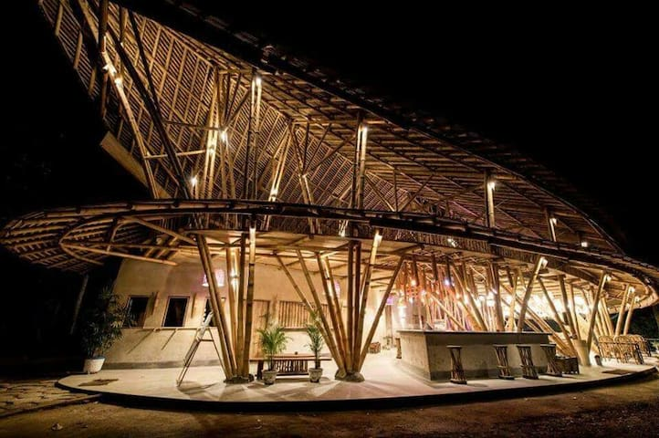 Eco cottage (Bamboo Building and organic concept)