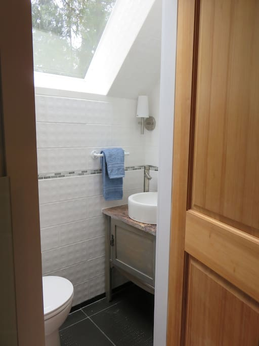 Private powder room in your bedroom.
