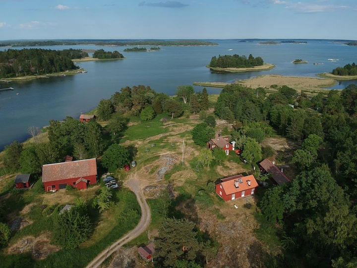 Swedish-style farmhouses in the archipelago