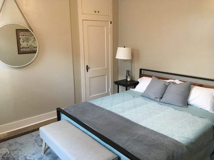 Private King bed in Historic brick home