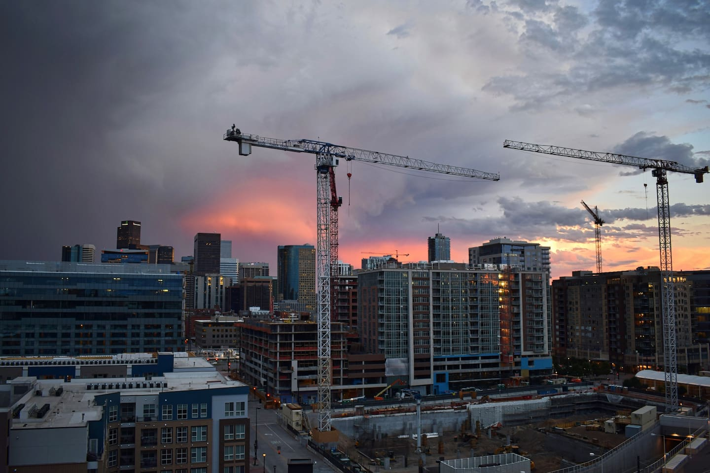 Beautiful Denver sunset taken from your balcony!
