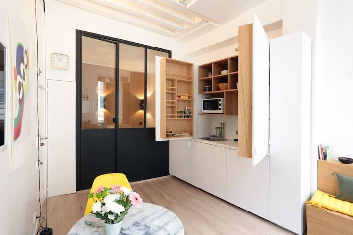 Appartement de charme à Montorgueil