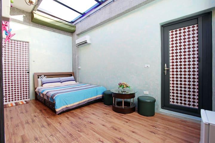星空雙人房-陽台+浴缸
