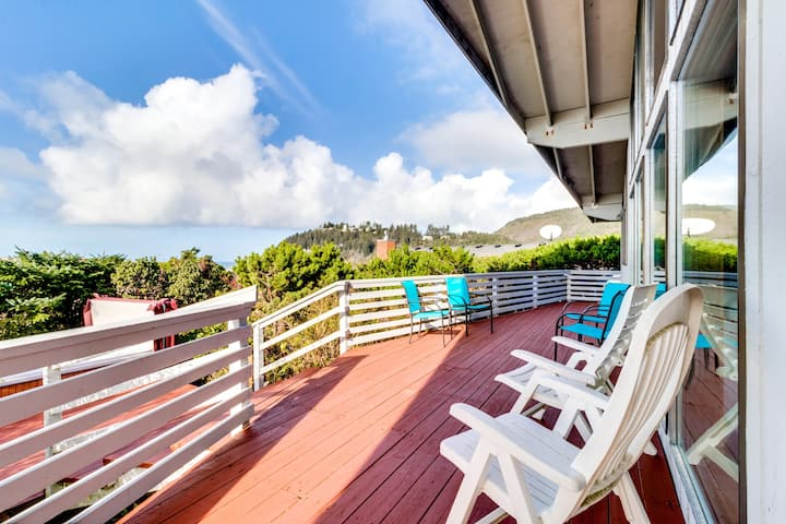 Dog-friendly house with ocean views and a private hot tub!