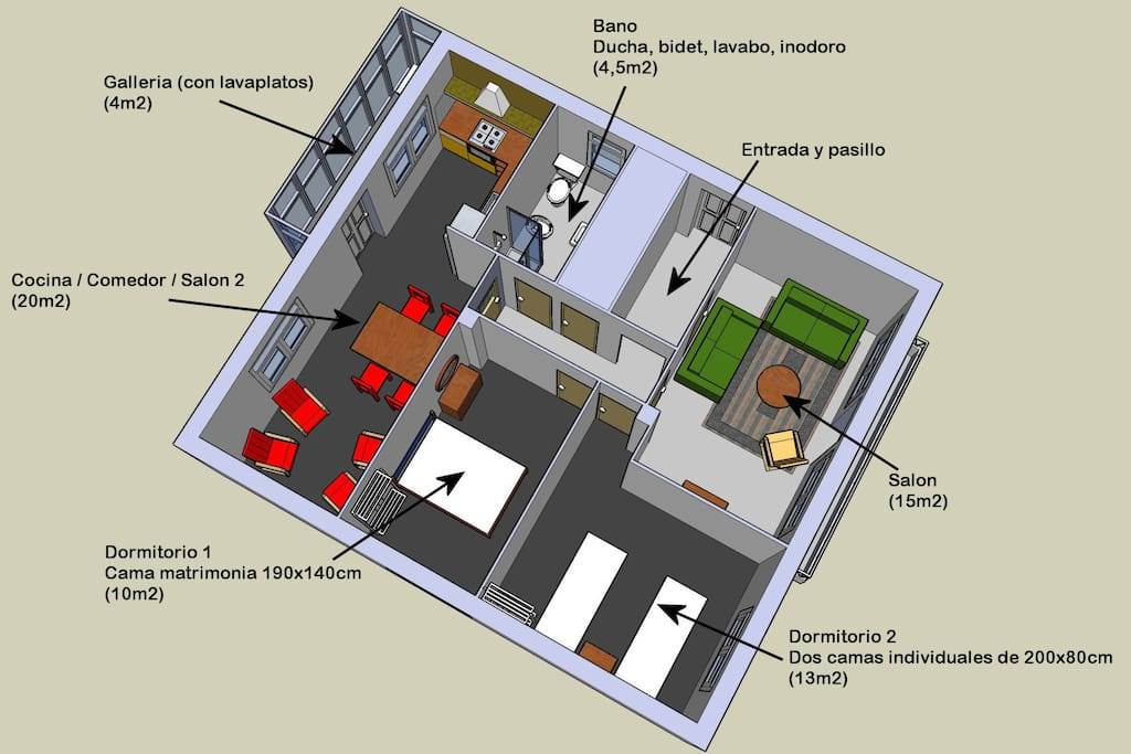 Plan del apartamento || Apartment plan