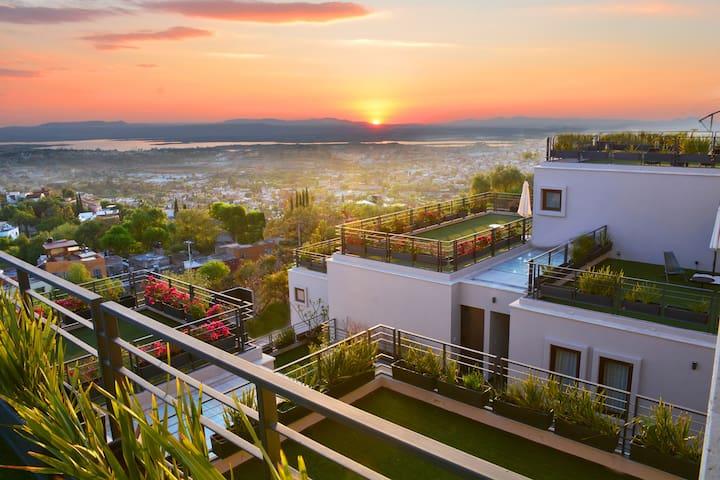 Terraza del departamento Sunset View
