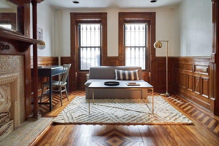 Charming Garden Apartment in Brooklyn Brownstone