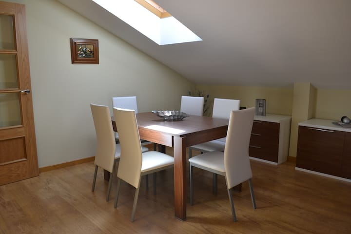 Ático a 1 minuto de la plaza mayor - Ayllón - Appartement