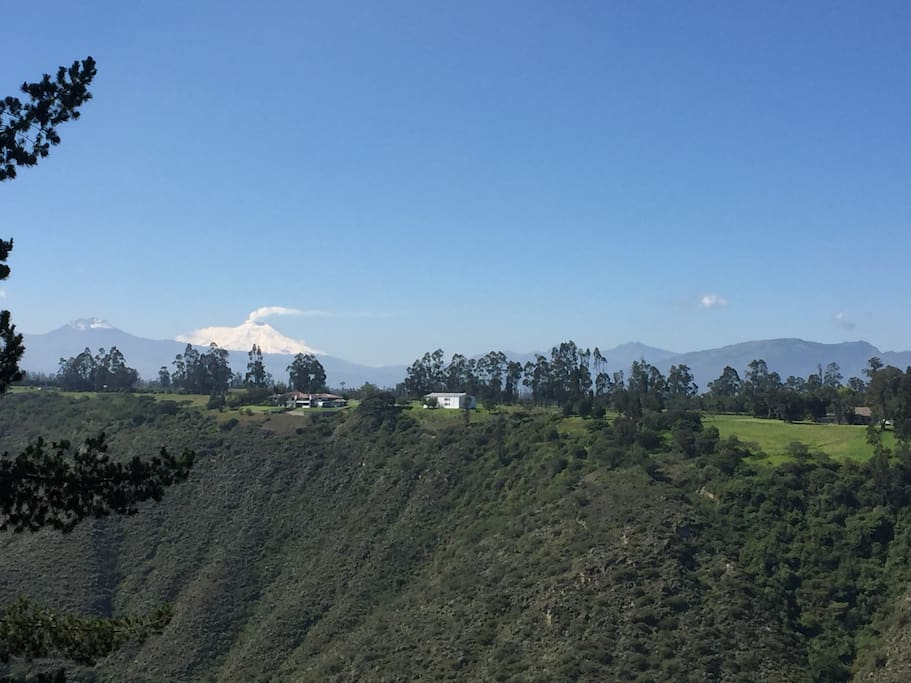 Surrounded by volcanoes and nature
