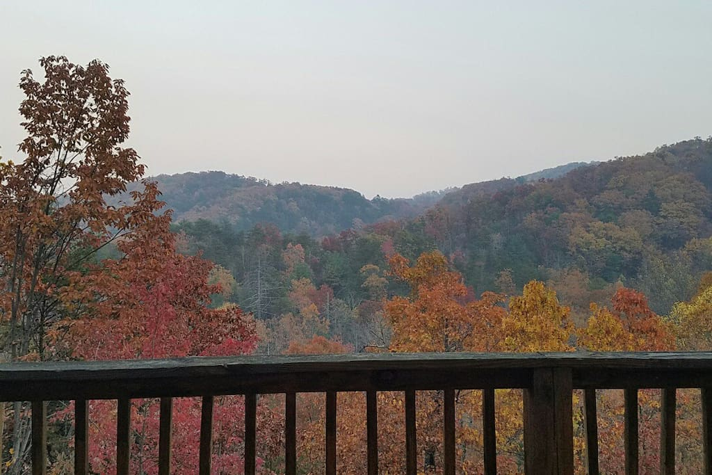 Spectacular views from the back deck