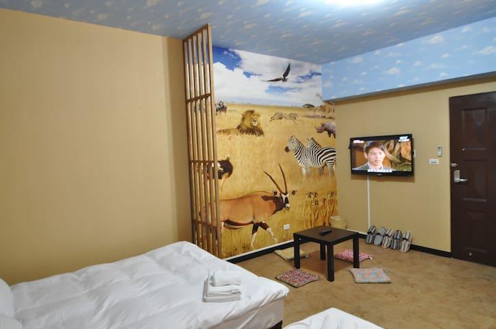 台中-Gary 獅子王家庭房 一中街1分鐘/UBIKE、中友百貨5分鐘/台中駅8分鐘/獨立衛浴