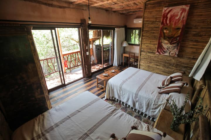 Eco Bungalow, Treetop House, Beach Club access & +