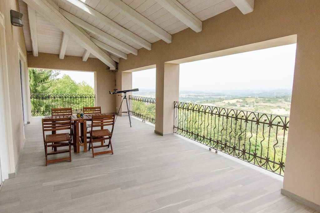 Terrace with Langhe view