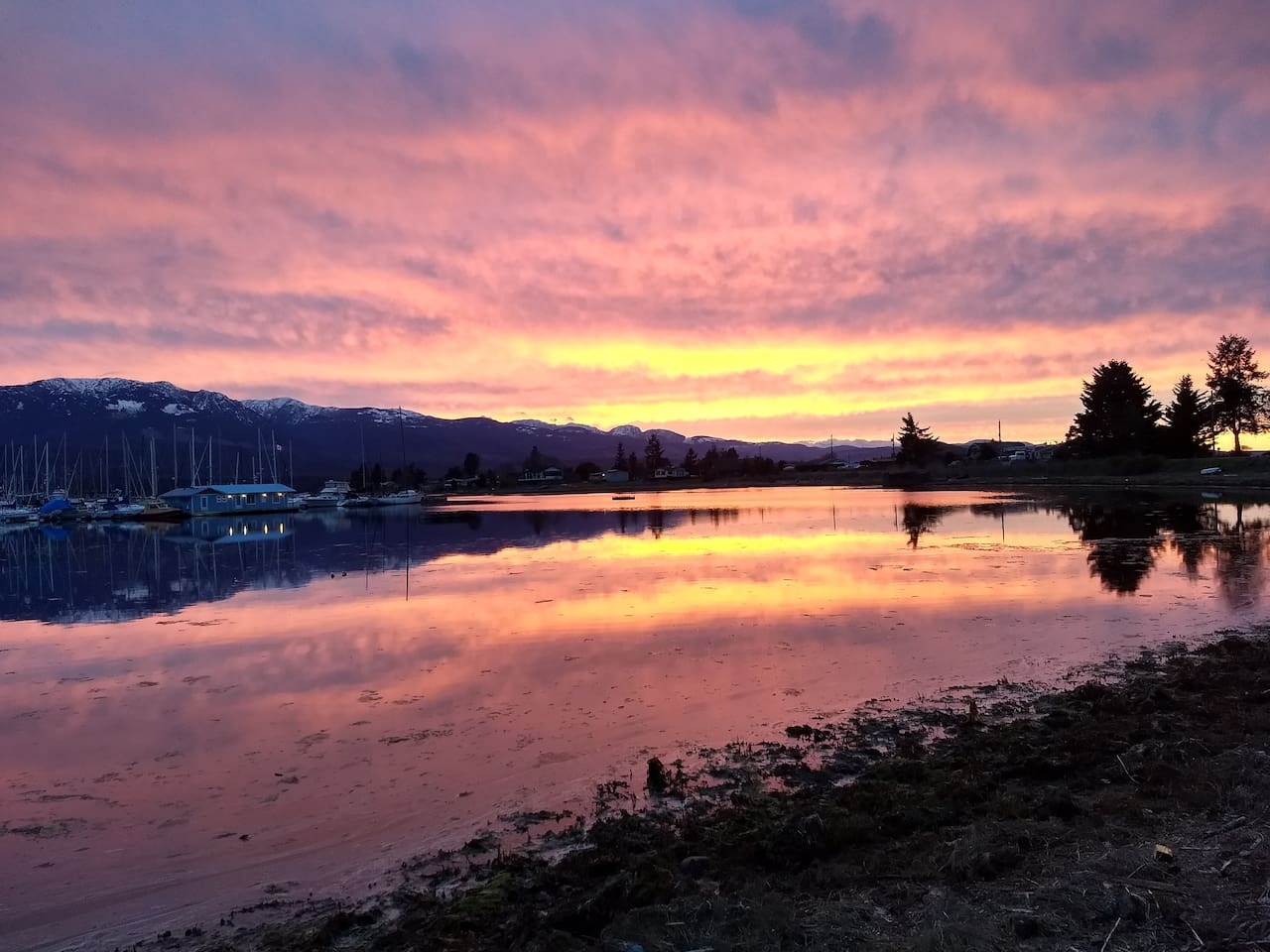 Enjoy magnificent sunsets over the western mountains