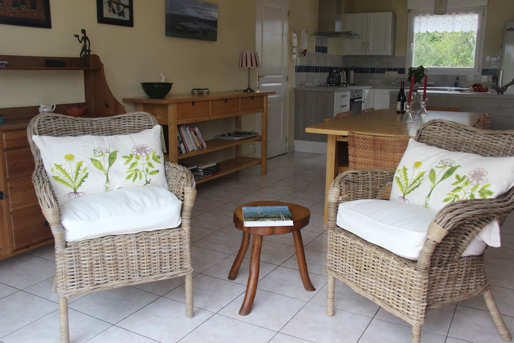 Sitting area and dining room