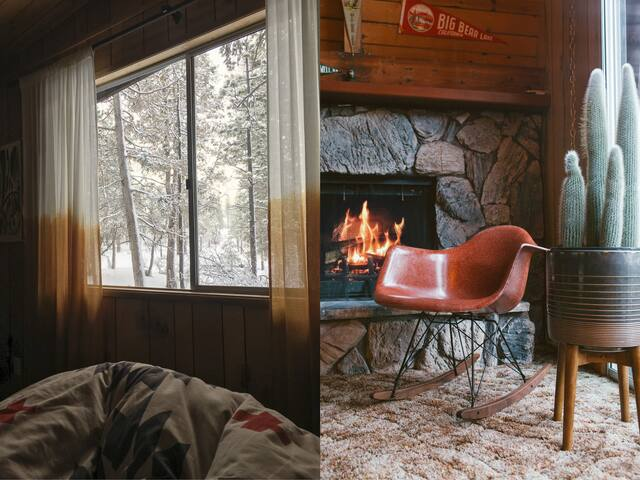 Nothing beats waking up to these snowy views and getting a nice, cozy fire going.