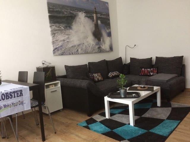 2 Raum Wohnung, Balkon, 55 m², Ruhige Lage