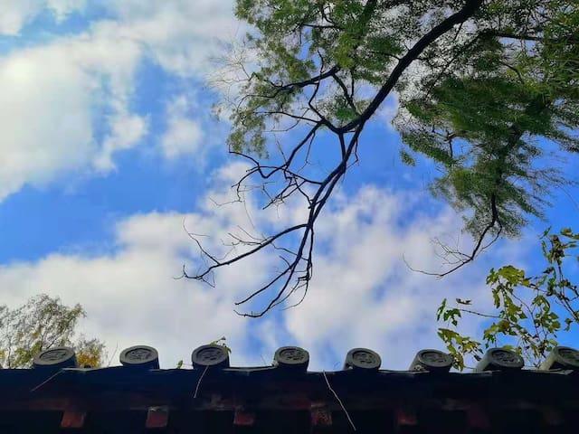 曲阜【九夷居·述而】城墙脚下距离三孔最近民宿 孔庙近在咫尺 独门独卫 大床房