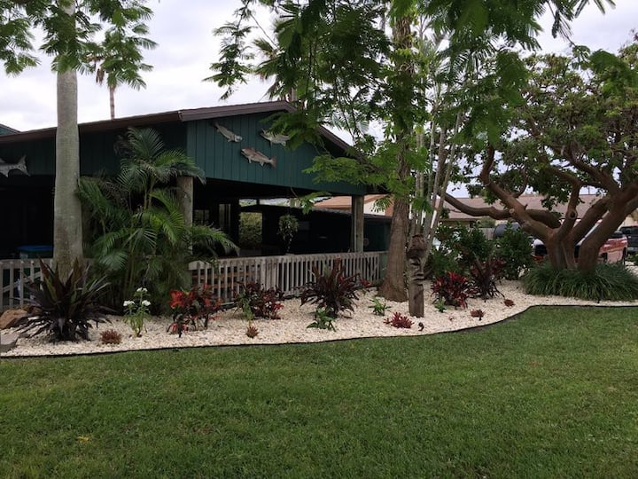 Cape Canaveral Triplex with Large Patio Bar