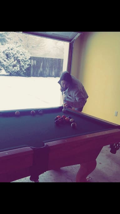 Pool table. You are welcome to shoot whenever you would like.