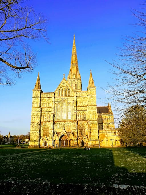 Salisbury Cathedral Just across  the road through St Anne's Gate