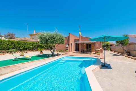 Can Cantari Villa for 6+2 with pool in Sa Coma