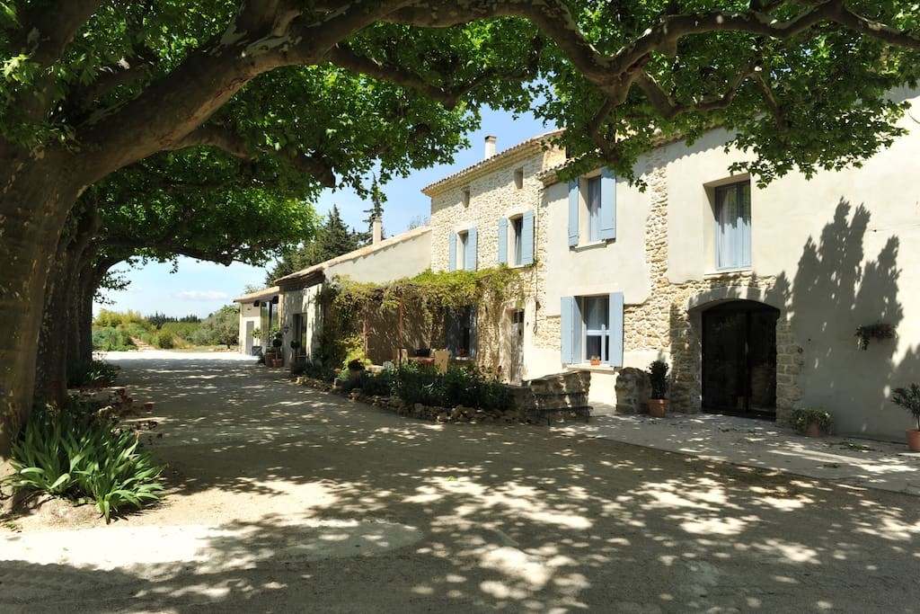 Le mas terre des anges gite houses for rent in sarrians - Gite avec piscine provence ...