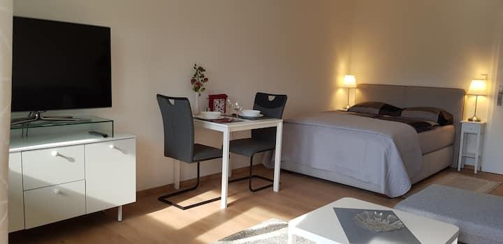 Sonnige Wohnung m. Ausblick; Parkpl.; ES-Zollberg