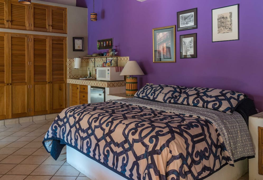 King size bed in Villa