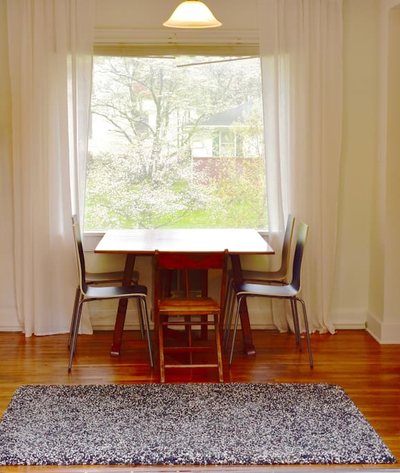 Enjoy the view of the trees outside!