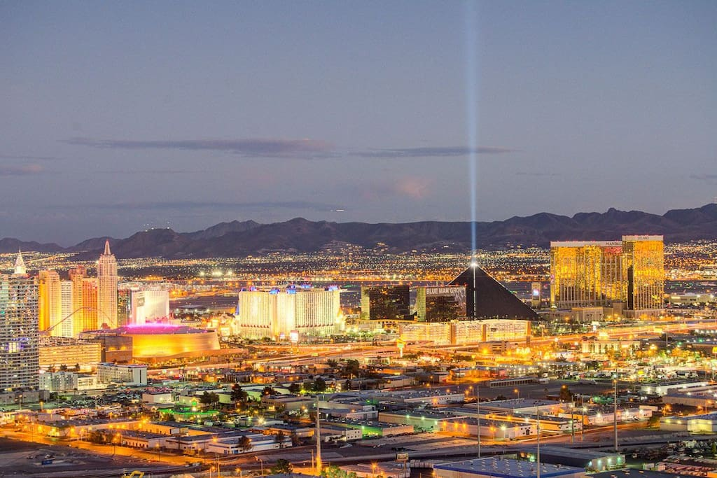 Another view of the strip. Enjoy from the 600+ square foot balcony and hot tub area taking in the views