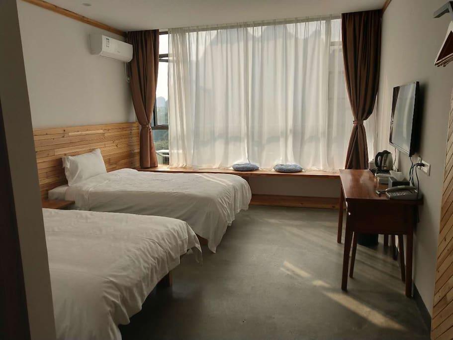 舒适标准间2张1.2米床