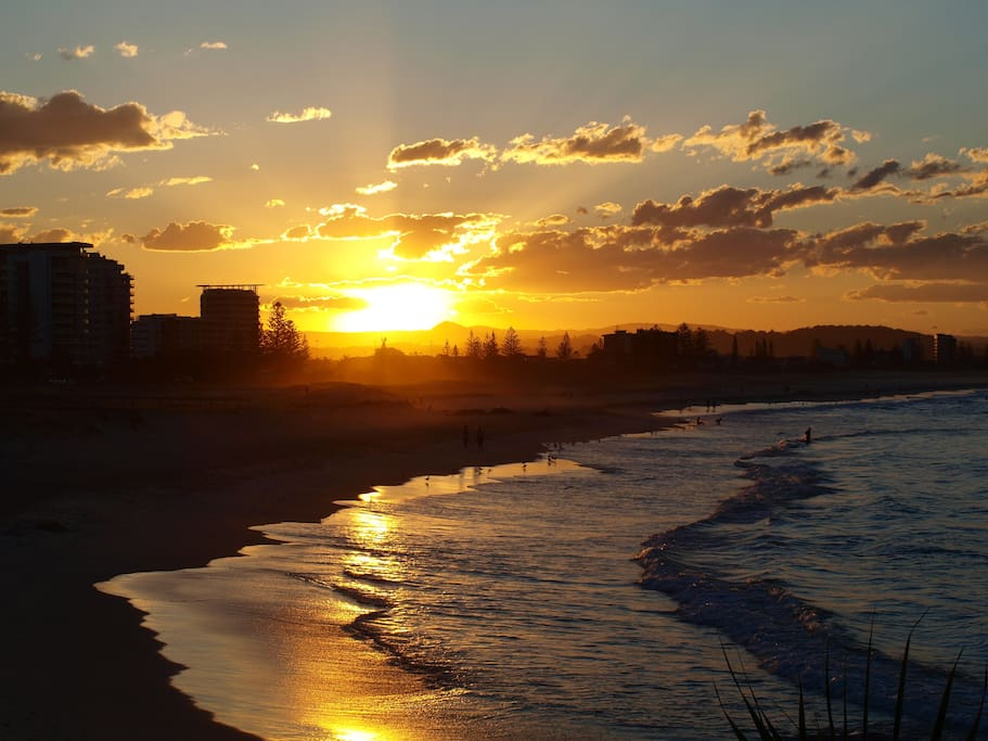 Sunset Kirra Beach