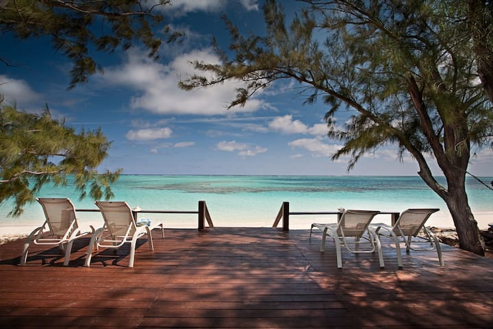 Enjoy the gentle trade breeze on the deck