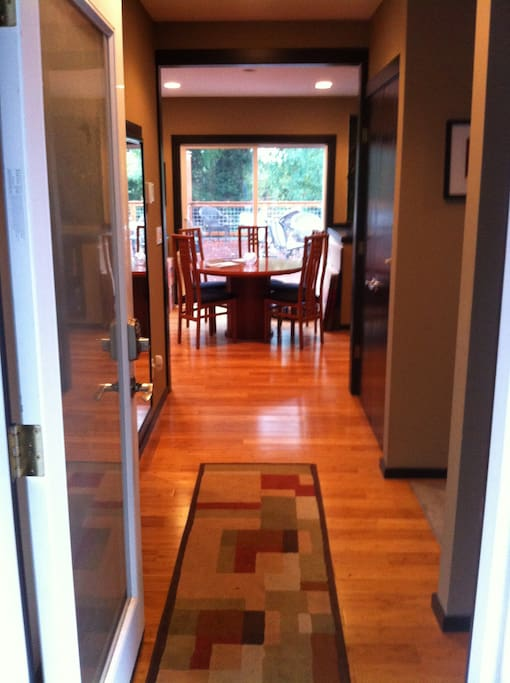 This is looking through the front door into the house