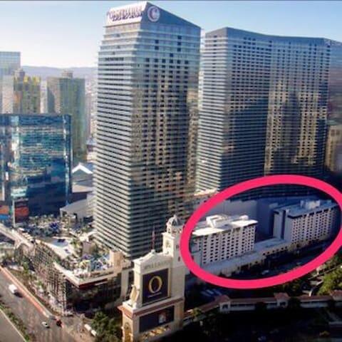 Prime location on the Las Vegas Strip