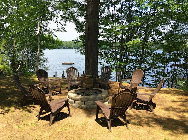 Lakefront Cottage w/ Dock, Fire Pit, HUGE decks!