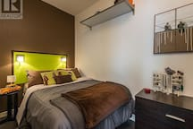 Queen Sized memory foam mattress, plenty of closet and dresser space.